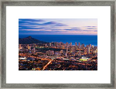 Evening In Honolulu Framed Print