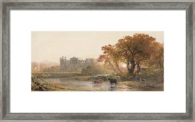 Evening In Italy, The Deserted Villa Framed Print