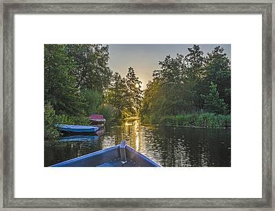 Evening In Loosdrecht Framed Print