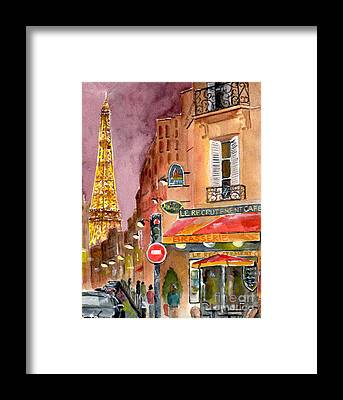 City Cafe Framed Prints