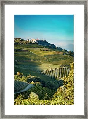 Framed Print featuring the photograph Evening In Piemonte by Brian Jannsen