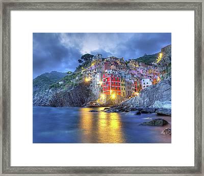 Evening In Riomaggiore Framed Print