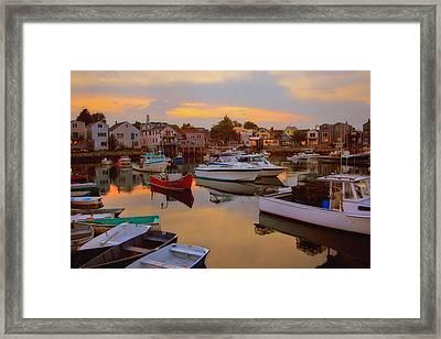 Evening In Rockport Framed Print by Joann Vitali