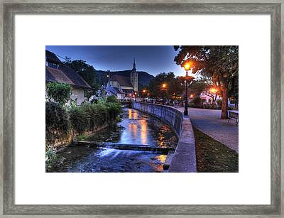 Evening In Samobor Framed Print