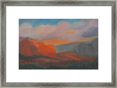 Evening In Sedona Framed Print by Stephanie Allison