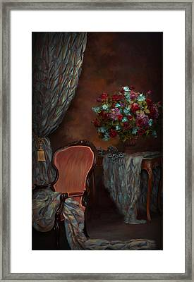 Evening In The  Parlor Framed Print