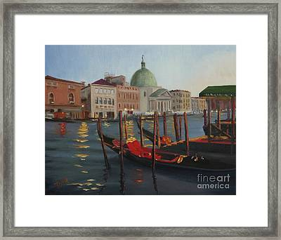 Evening In Venice Framed Print