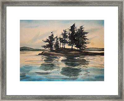 Evening Island Framed Print