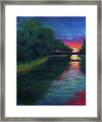 Evening, Lagan Lake Reflections Framed Print