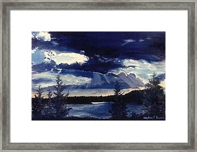 Evening Lake Framed Print by Steve Karol