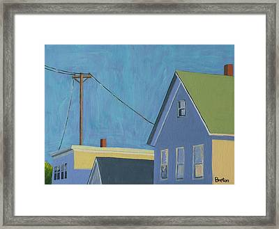 Evening Framed Print by Laurie Breton