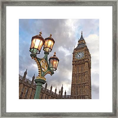 Evening Light At Big Ben Framed Print