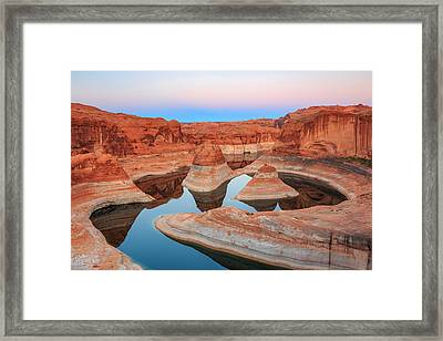 Evening Light In Reflection Canyon. Framed Print