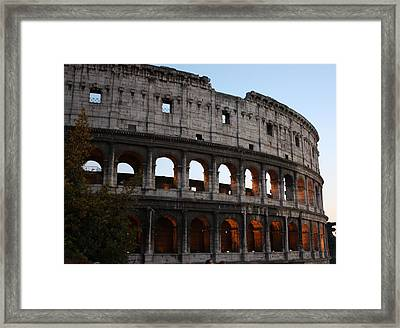 Evening Light In Rome Framed Print by Pat Purdy