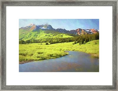 Framed Print featuring the photograph Evening Light In Soft Pastels by Eric Glaser