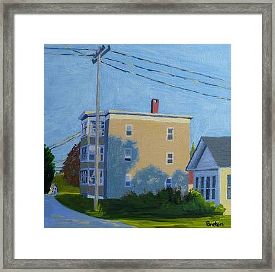 Evening Light Northern Avenue Framed Print by Laurie Breton