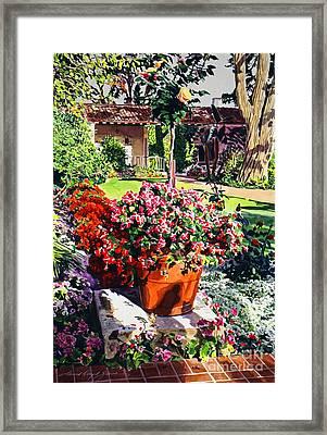 Evening Light Santa Barbara Biltmore Framed Print by David Lloyd Glover