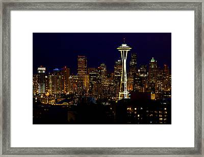 Evening Lights Framed Print by James Marvin Phelps
