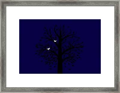 Evening Love Birds Framed Print by Chastity Hoff