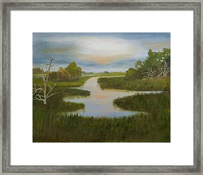 Evening Marsh Framed Print by Shirley Lawing
