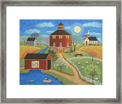 Evening Meadow Framed Print by Mary Charles