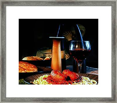 Evening Meal Framed Print