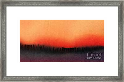 Evening Mist Framed Print by Addie Hocynec