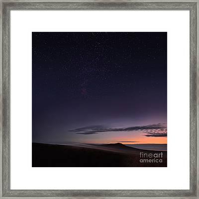 Evening Mist Rising On The Cronk Framed Print