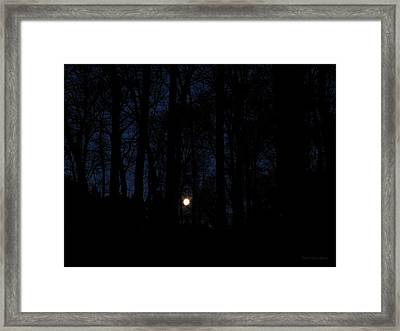 Evening Moon Framed Print