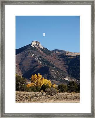 Evening Moon Framed Print by Jan Brieger-Scranton