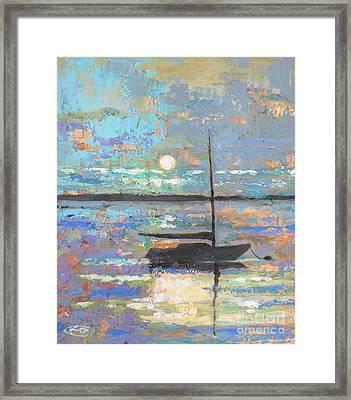 Evening Moon Framed Print by Kip Decker