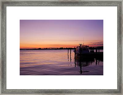 Evening Of Peace - Jersey Shore Framed Print by Angie Tirado