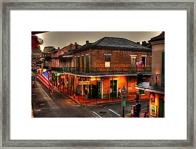 Evening On Bourbon Framed Print by Greg and Chrystal Mimbs