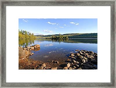 Evening On Cedar Lagoon Pine Lake Framed Print by Larry Ricker