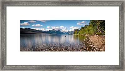 Evening On Lake Mcdonald 2 Framed Print