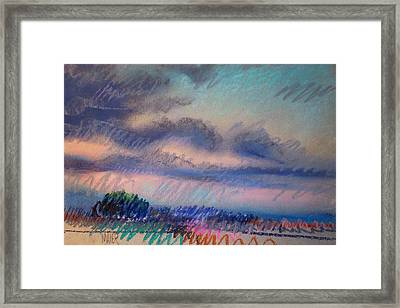 Evening On The Coast Framed Print by Donald Maier