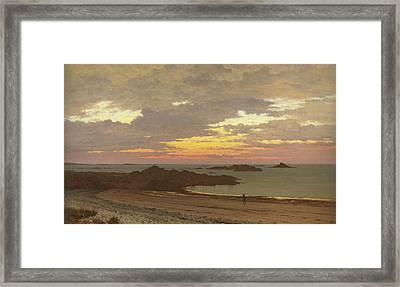 Evening On The Coast Framed Print by Frederick William Meyer