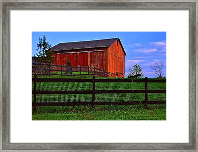 Evening On The Farm Framed Print by Frozen in Time Fine Art Photography