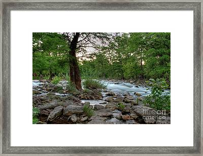 Evening On The Guadeloupe River  Framed Print