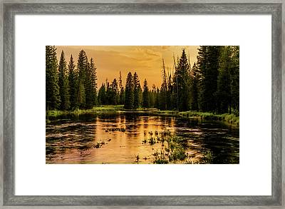 Framed Print featuring the photograph Evening On The Henry's Fork  by TL Mair