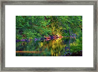 Evening On The Humber River - Paint Framed Print by Steve Harrington