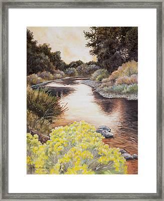 Evening On The John Day River Framed Print