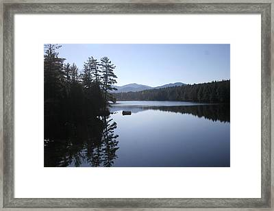 Evening On The Lake Framed Print by Kate  Leikin