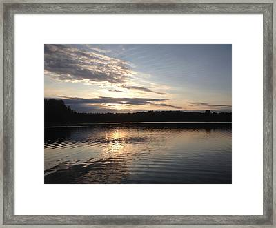 Evening On The Lake Framed Print by Lori Thompson