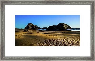 Evening On The Oregon Coast Framed Print