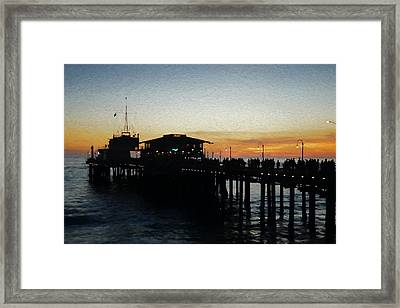 Evening On The Pier Framed Print