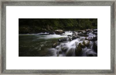 Evening On The Sarapiqui River Framed Print