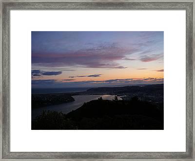 Evening Otago Harbour Framed Print