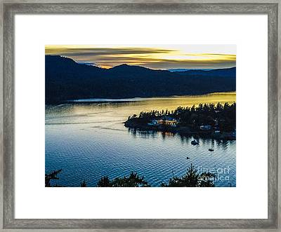 Evening Over Rosario Resort Framed Print