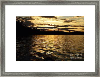 Framed Print featuring the photograph Evening Paddle On Amoeber Lake by Larry Ricker